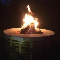 Fire Pit and Stone Seating Area