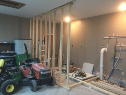 Guest House Bathroom Framing