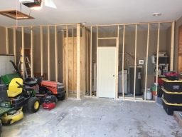 Finished Framing + Utility Room Door + Shower
