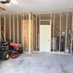 Finished Framing + Utility Room Door + Shower