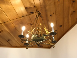 Lake House Chandelier Installed