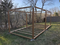 Shed Progress: Floor Construction