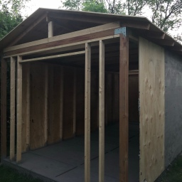 Shed Construction: Much Progress