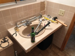 Starting Lake House Bathroom Remodel