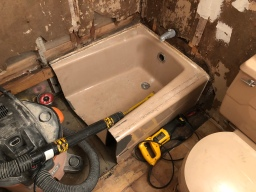 Cast Iron Tub Removal