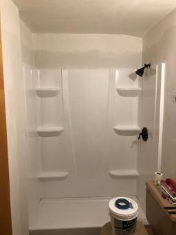 Bathroom Progress + New Shower
