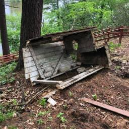 Outhouse and Boulder Removal
