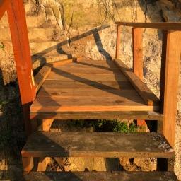 Rebuilding Lake House Stairway Landings