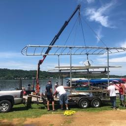 Boat Lift Setup