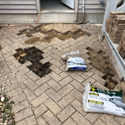 Re-Leveling Pavers