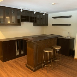 Bar Cabinetry Install