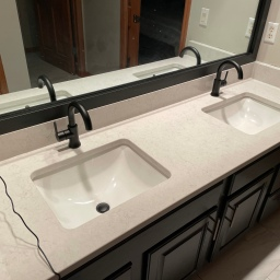 Guest/Office/Basement Bathroom Counters and Mirrors